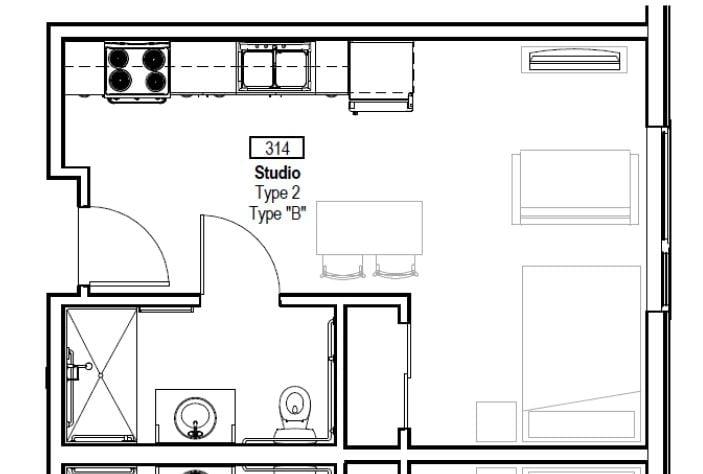 2-FCV Studio floorpaln