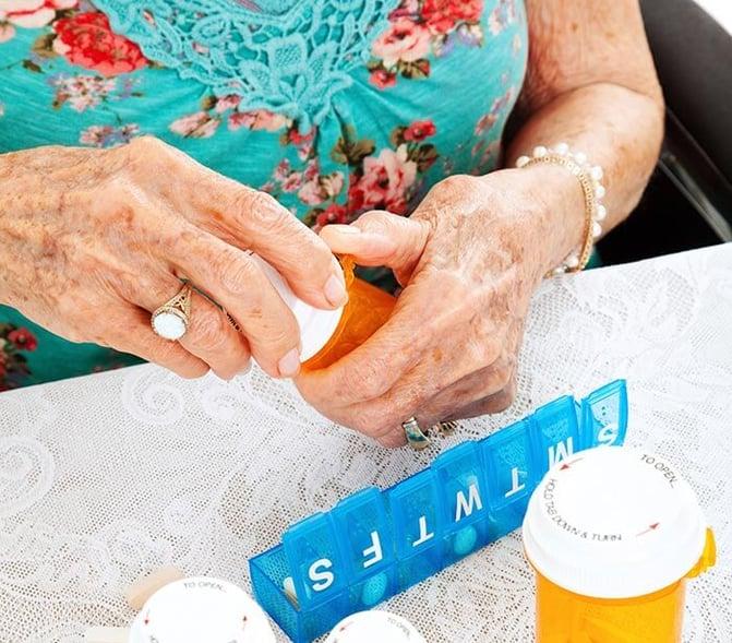 Caregiver support for caregivers responsible for medication management