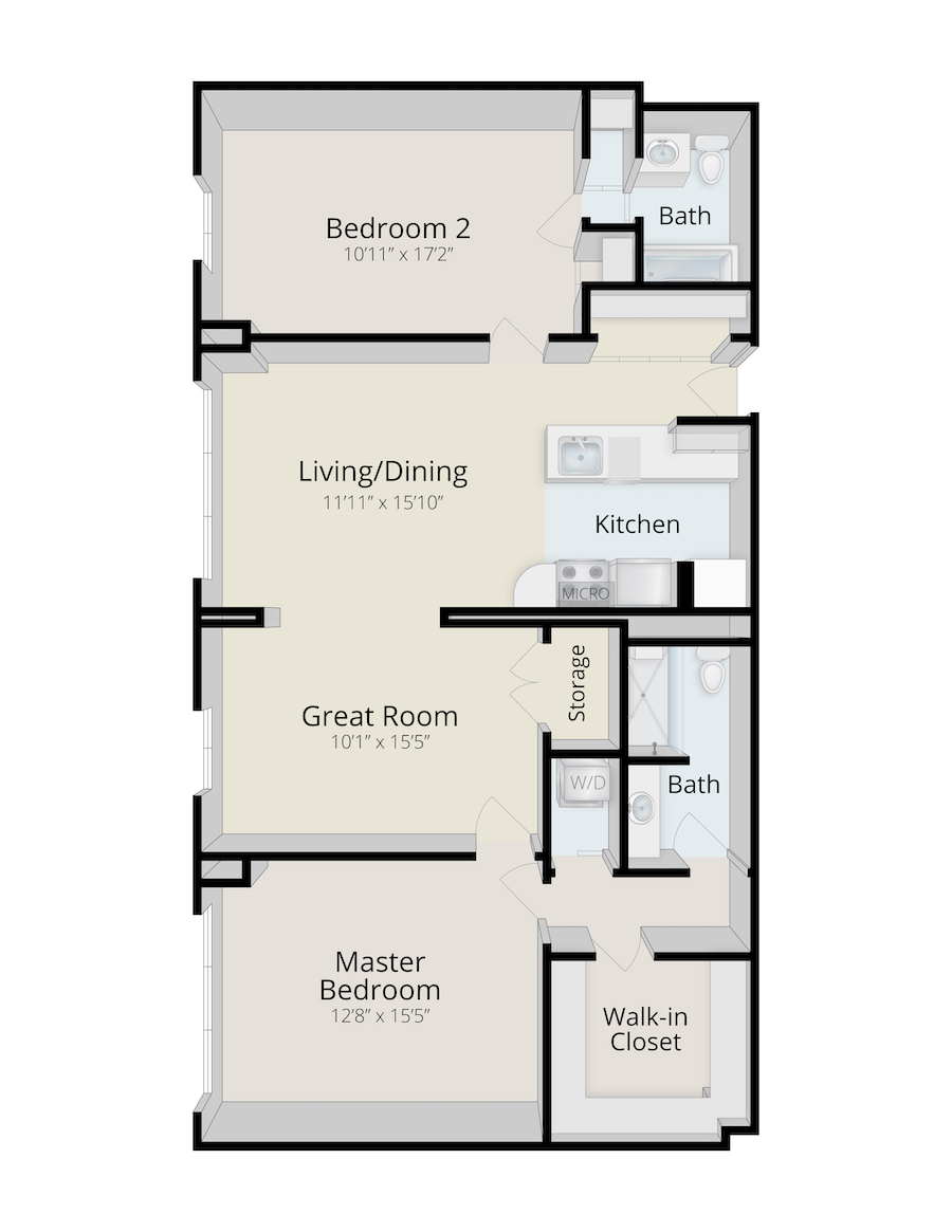 rydal-park-residence-Brookside_TwoBedroomSuite_1050-1222SF_3D