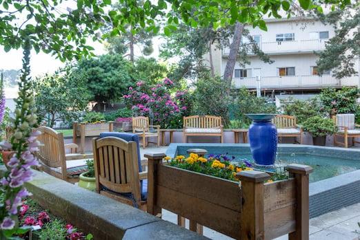 outdoor patio area at piedmont gardens