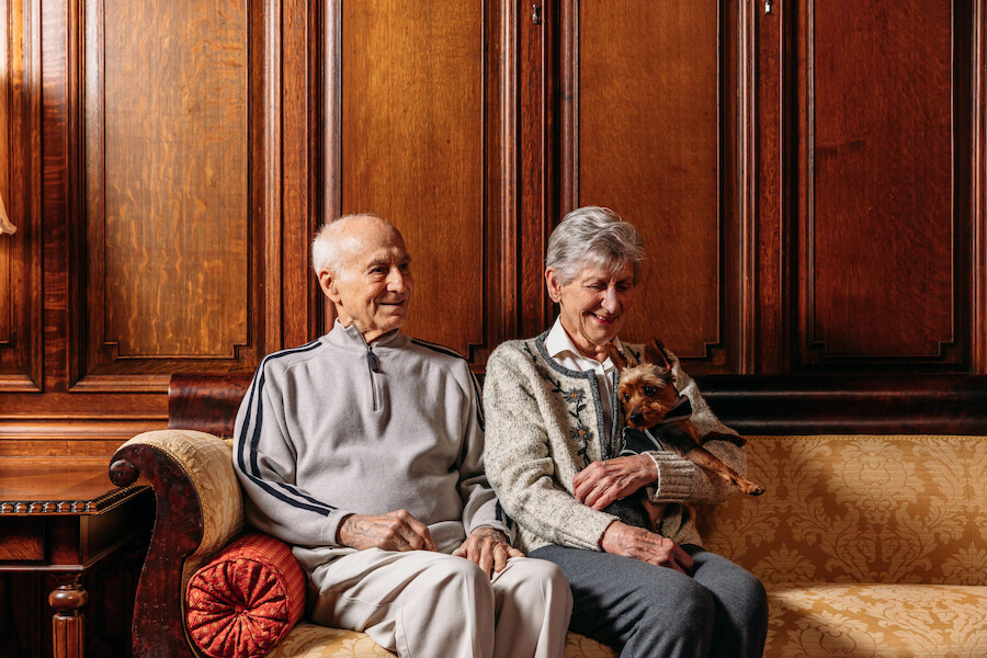 the mansion at rosemont older couple
