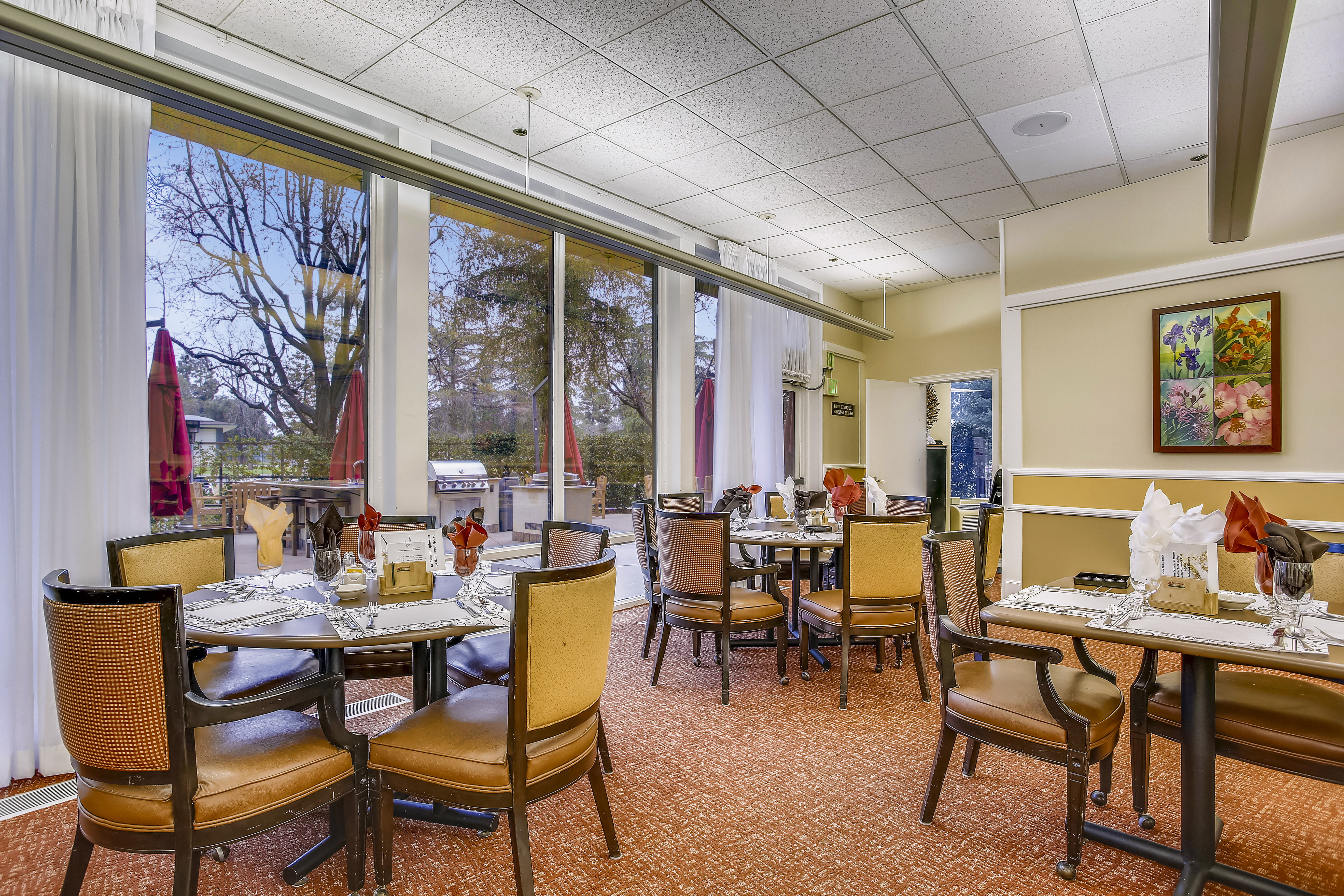 tables in main dining room near window