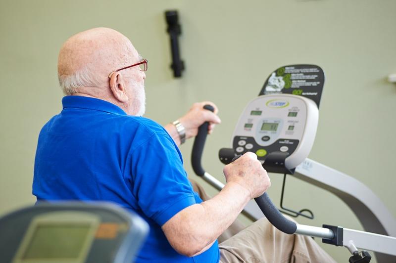 resident exercising