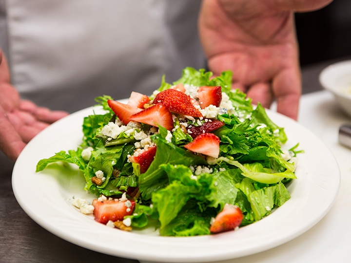 image of a salad with strawberries