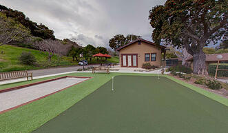 Putting Green & Bocce Ball Court