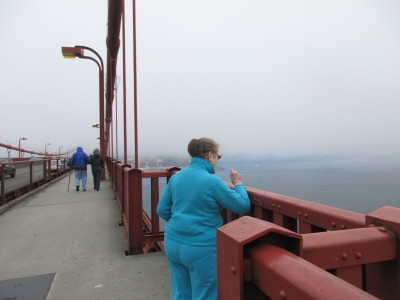 Terraces of Los Gatos resident enjoys view from Golden Gate Bridge.